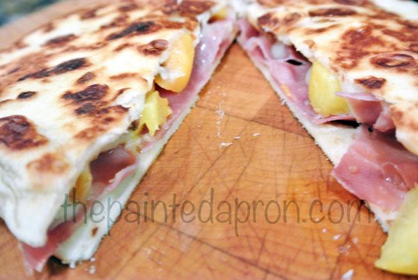 peach quesadilla thepaintedapron.com