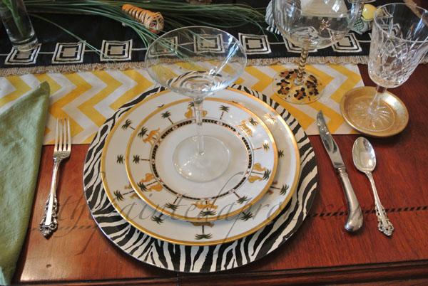 African Safari table thepaintedapron.com