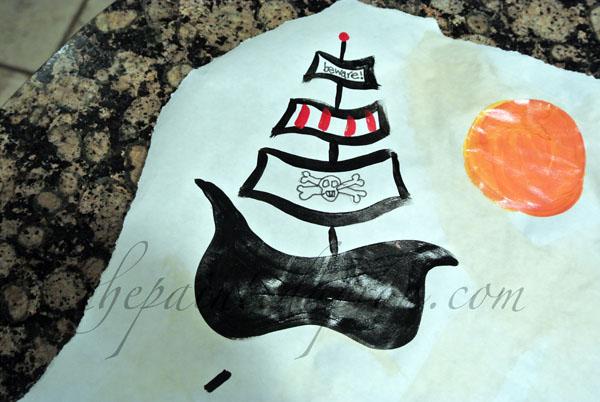 pirate boat thepaintedapron.com