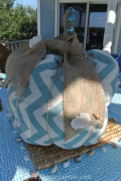 beach pumpkin thepaintedapron.com