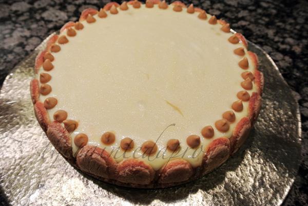 butterscotch ladyfinger cheesecake thepaintedapron.com
