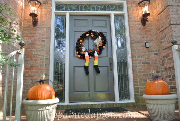 Halloween door thepaintedapron.com