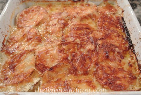 sweet potato gratin thepaintedapron.com