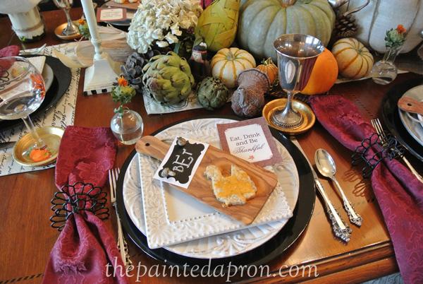 Thanksgiving place setting thepaintedapron.com