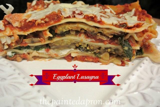 eggplant lasagna thepaintedapron.com