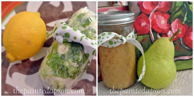 lemon chive butter:pear vinaigrette thepaintedapron.com
