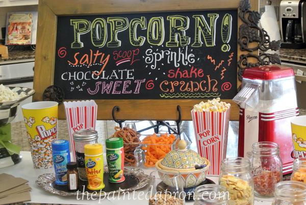 popcorn party thepaintedapron.com