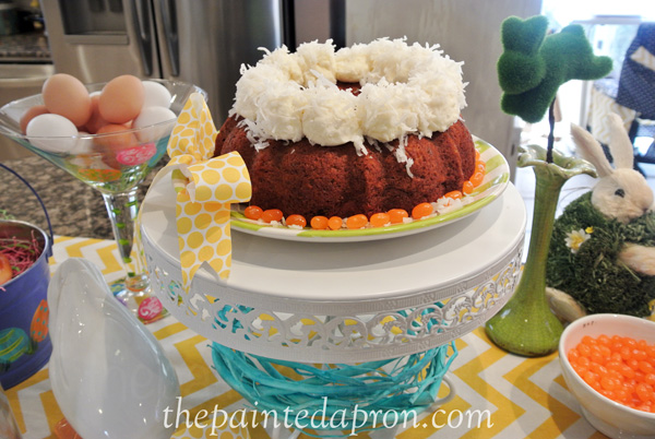 Cotton Tail Cake Buffet thepaintedapron.com