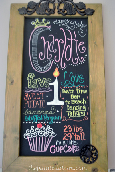 Birthday Girl chalkboard thepaintedapron.com