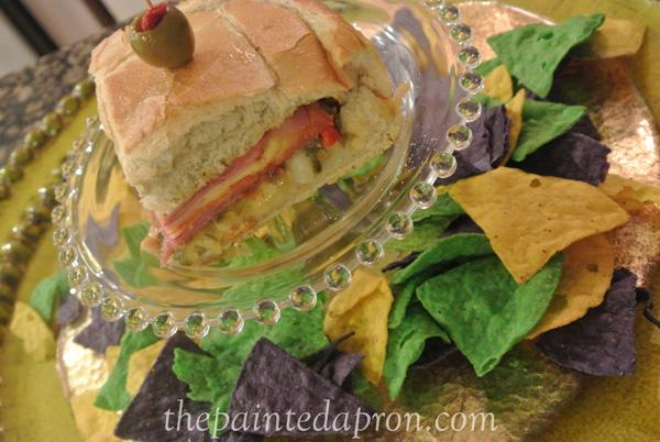 muffaletta sandwich wedge thepaintedapron.com