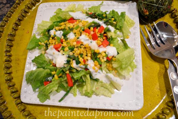 fresh veggie salad thepaintedapron.com