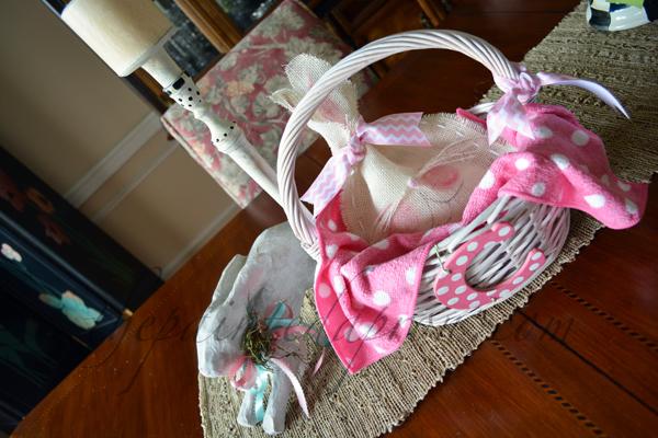 pink bunny basket thepaintedapron.com