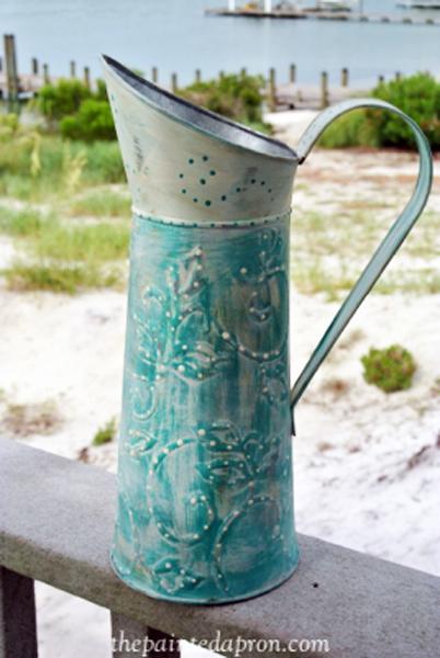 chalk paint pitcher thepaintedapron.com