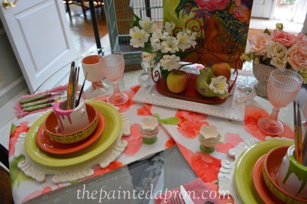 artist garden table thepaintedapron.com