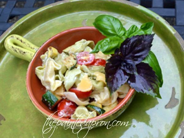 chipotle and gouda pasta salad thepaintedapron.com