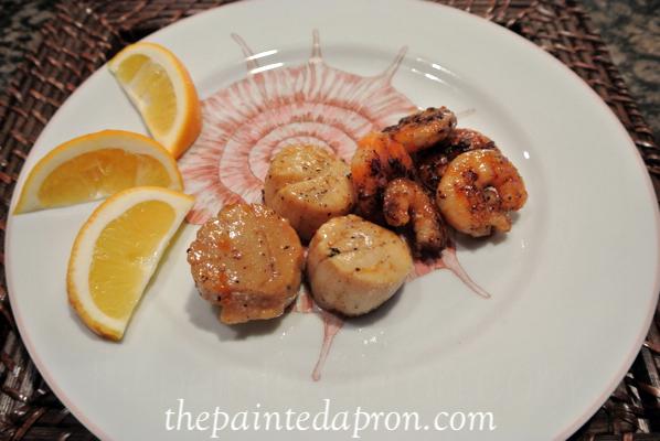 orange glazed seafood thepaintedapron.com
