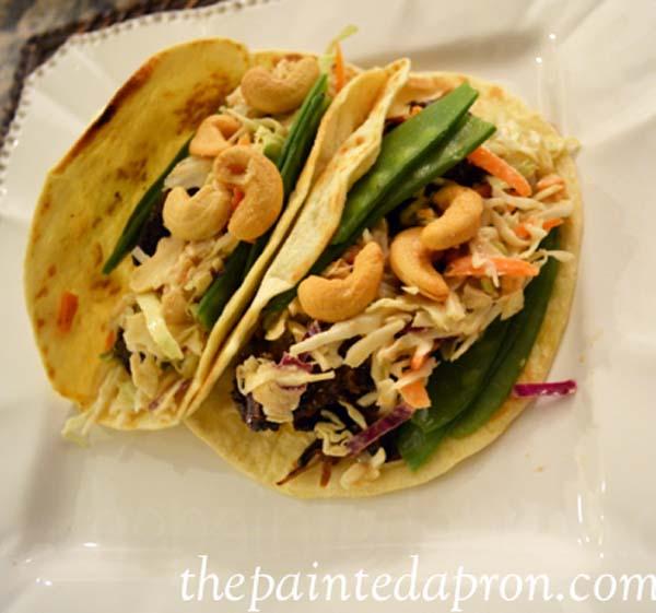 Asian tacos thepaintedapron.com