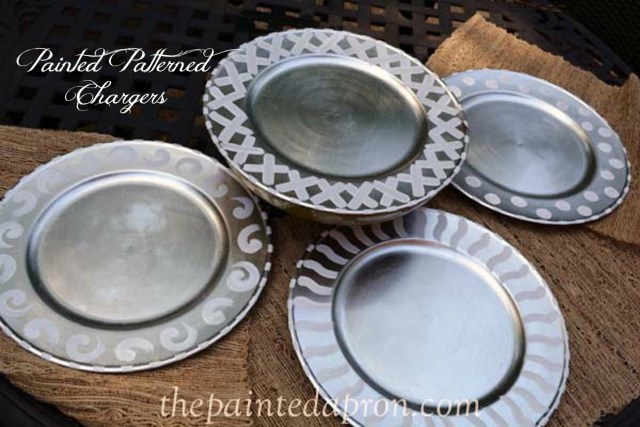 painted pattern chargers thepaintedapron.com