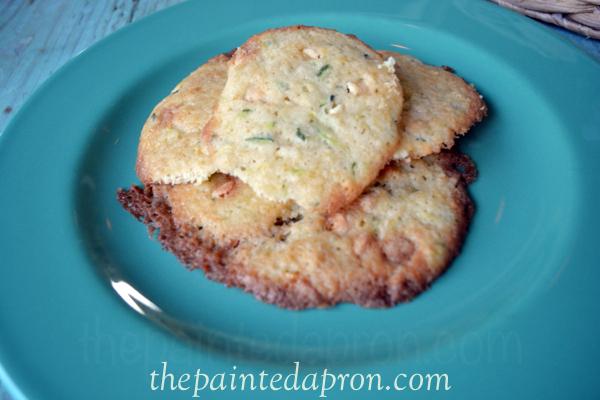 white chocolate chip zucchini cookies thepaintedapron.com
