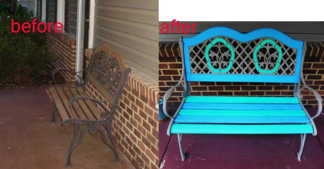 bench before and after