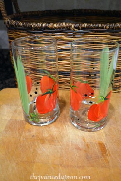 tomato glasses thepaintedapron.com