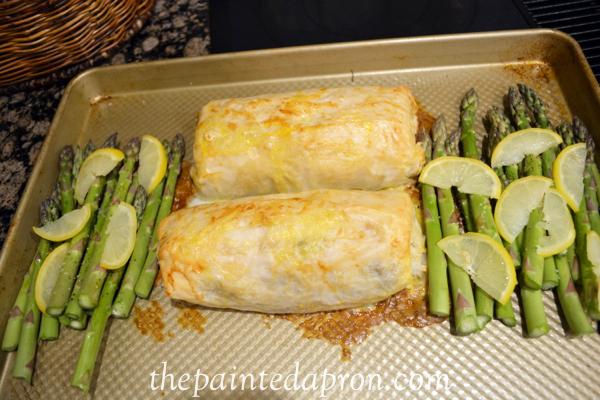 chicken baklava with asparagus thepaintedapron.com