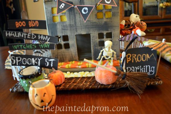 halloween centerpiece thepaintedapron.com