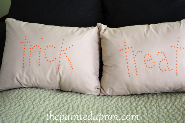 paint dot pillows thepaintedapron.com