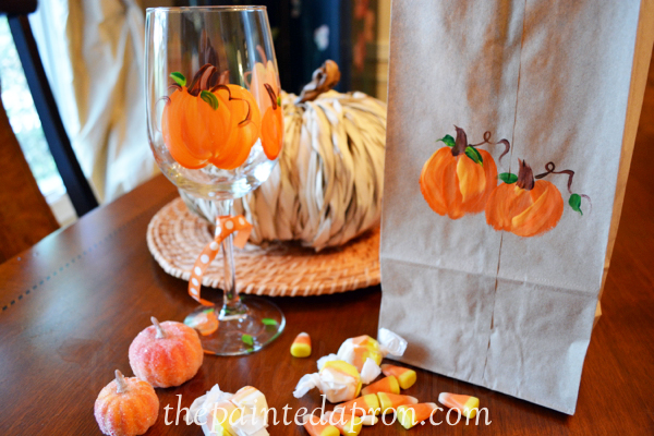 pumpkin treat bag thepaintedapron.com