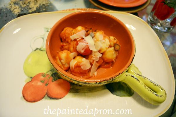 roasted tomato gnocchi thepaintedapron.com