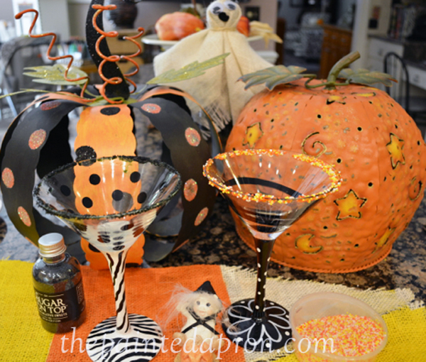 Halloween Martini rims thepaintedapron.com