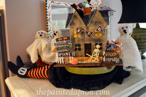 haunted house on top of witch thepaintedapron.com