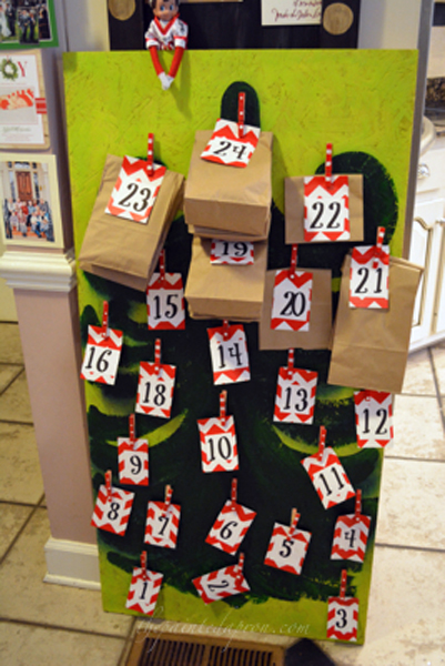 Advent calendar thepaintedapron.com