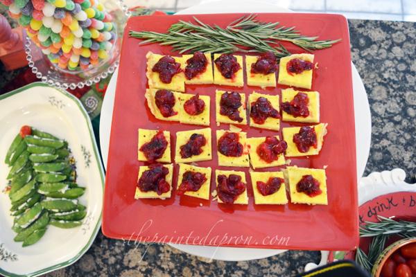 cranberry chutney topped tart squares thepaintedapron.com