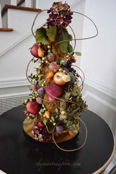 glitter fruit tree thepaintedapron.com