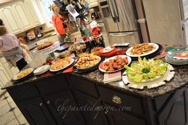 holiday appetizer buffet thepaintedapron.com