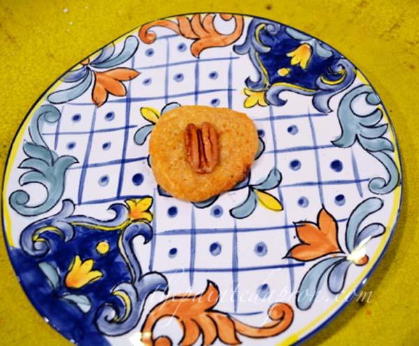 cheese cookie with pecan thepaintedapron.com