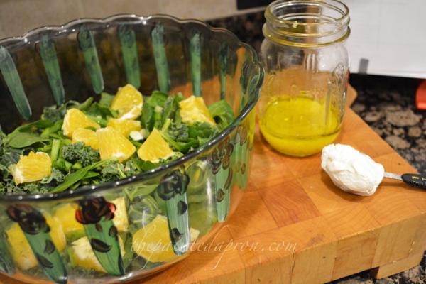kale and orange salad thepaintedapron.com