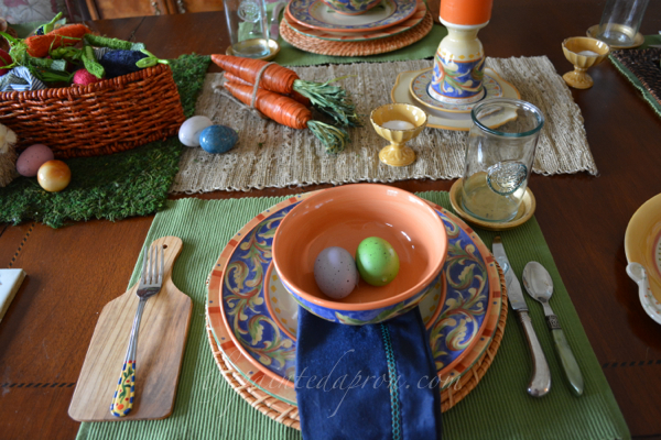 bunnies, carrots and eggs thepaintedapron.com