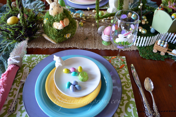 Easter place setting thepaintedapron.com