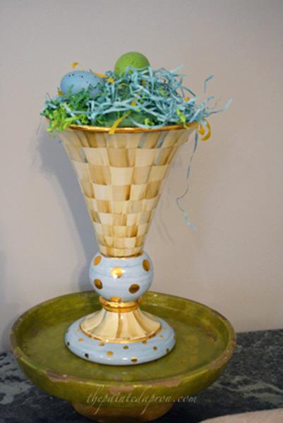 egg nest vase thepaintedapron.com