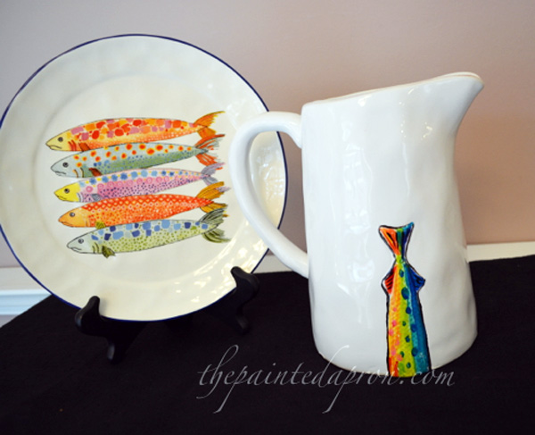 fish pitcher thepaintedapron.com