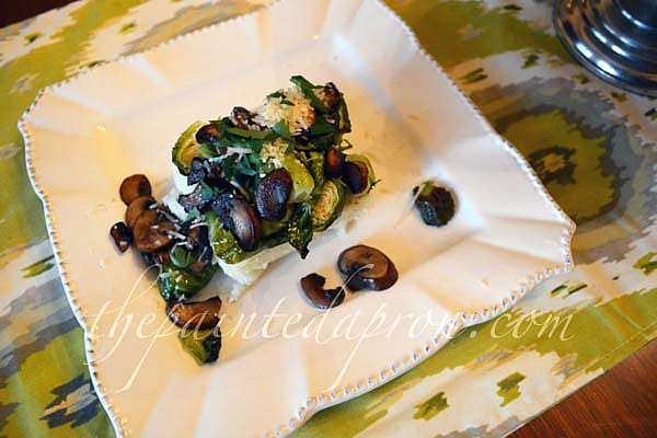 Asiago grits with veggies thepaintedapron.com