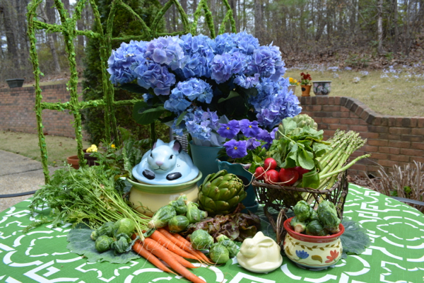 bunny garden table thepaintedapron.com