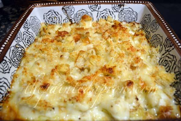 Cauliflower gruyere gratin thepaintedapron.com