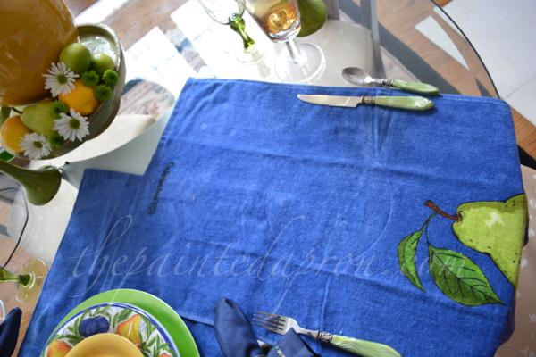dish towel placemats thepaintedapron.com