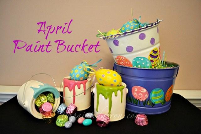 Easter paint buckets thepaintedapron.com