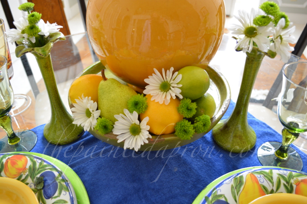 pears, poms and daisies thepaintedapron.com