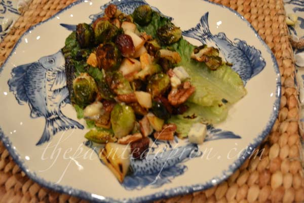 grilled romaine with pears & bleu thepaintedapron.com