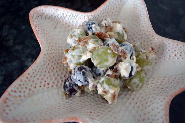 sweet grape and pecan salad thepaintedapron.com
